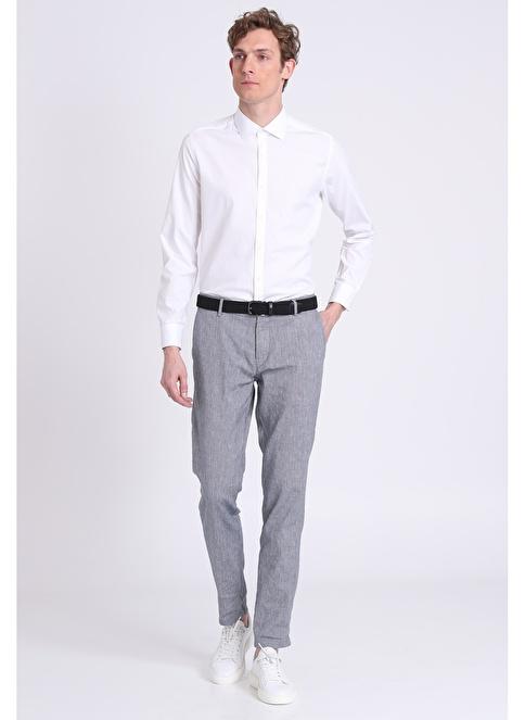 Lufian Uzun Kollu Slim Fit Klasik Gömlek Beyaz